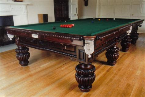 size snooker table