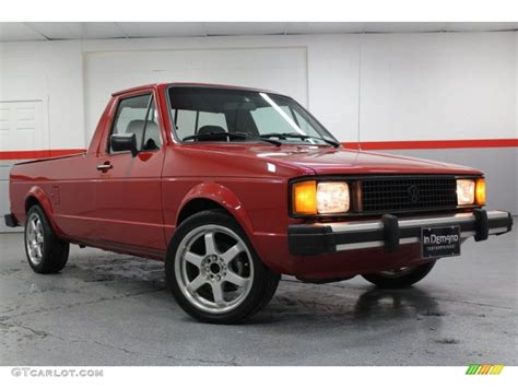 volkswagen rabbit truck 1981 red volkswagen rabbit pickup caddy 58915472