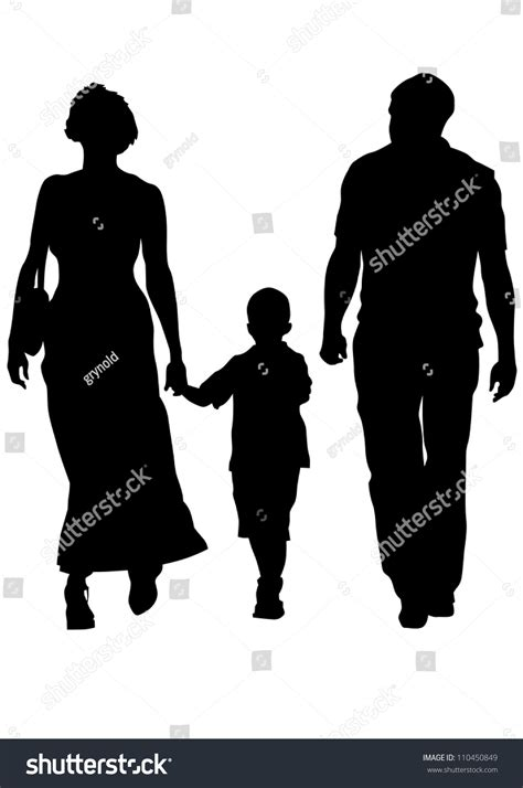 drawing for parents drawing parents child stock illustration 110450849