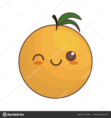 imagenes kawaii de frutas kawaii orange fruit icon stock vector 169 djv 144916901