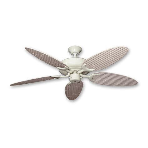 wicker ceiling fan blades outdoor bamboo ceiling fan antique white finish