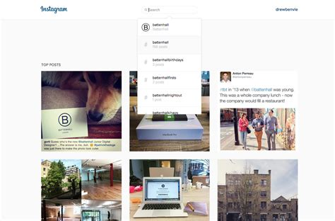 instagram layout computer battenhall instagram launches desktop search suddenly