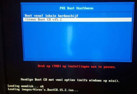 booten vanaf een netwerk pxe boot