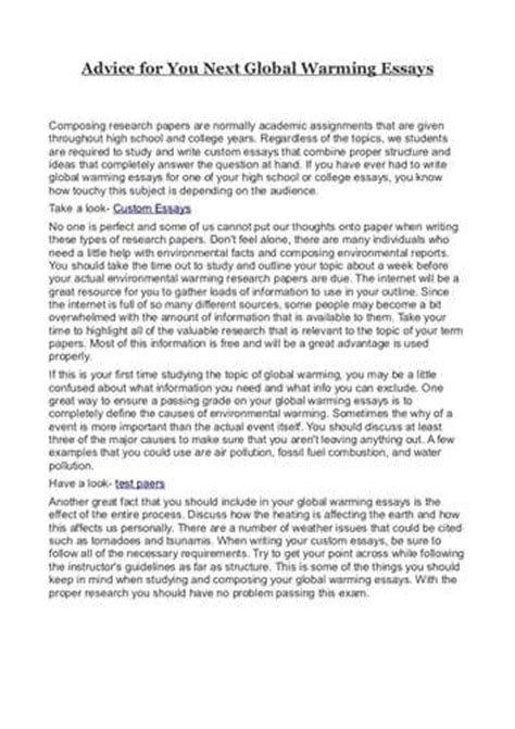 Introduction For Global Warming Essay by Global Warming Essay Introduction