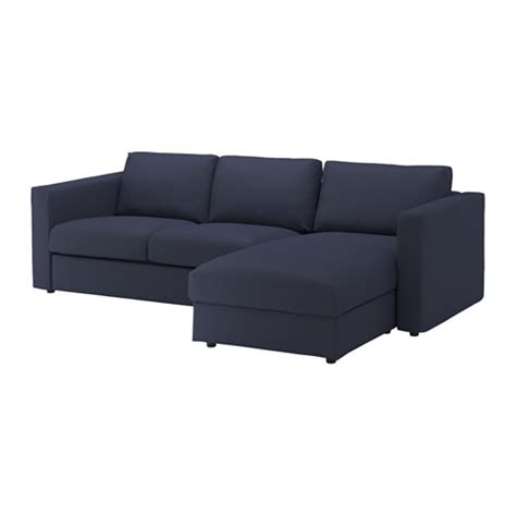 black sofa with chaise vimle sofa with chaise orrsta black blue ikea