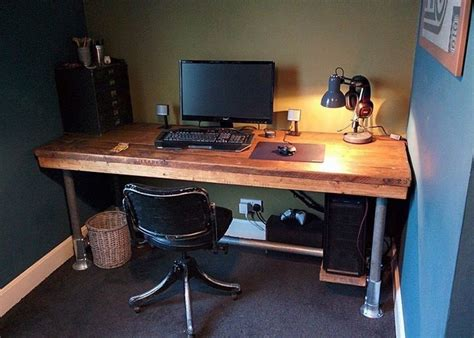 diy gaming computer desk gaming desk scaffold boards and rustic industrial on