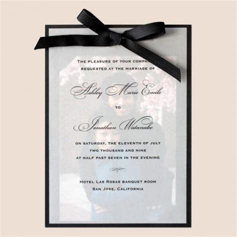 Printed Wedding Invitations Velum by Photo Wedding Invitations How To Make Photo