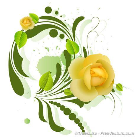 design in flower decorative yellow flower design background vector free