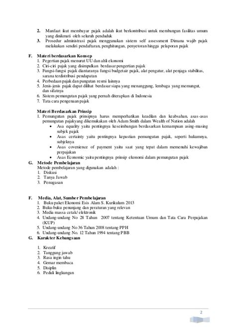 Administrasi Pajak Smkmak Kelas Xi K2013 ekonomi esis kur 2013 rpp kelas xi bab 05