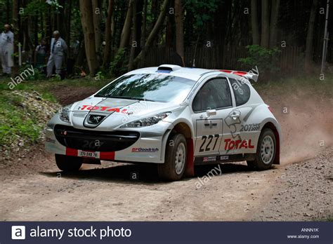 Peugeot 207 Rally Car On The Rally Stage At Goodwood