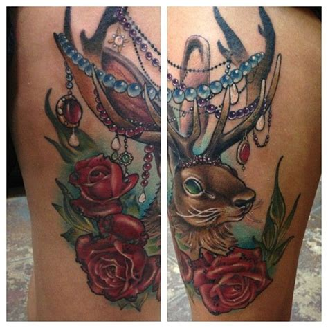 jackalope tattoo instagram jackalope tattoo finished up last night so fun