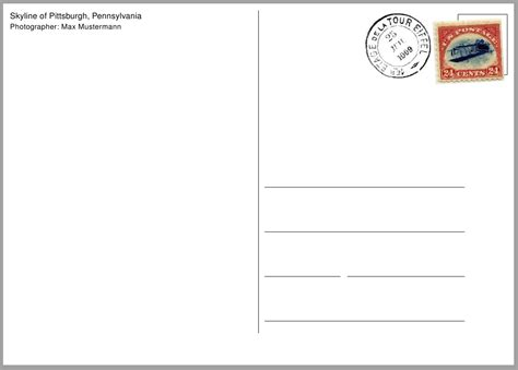 Templates For Postcards by How Can I Make A Postcard Template Tex