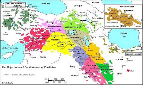 map  kurdish territory  travel information