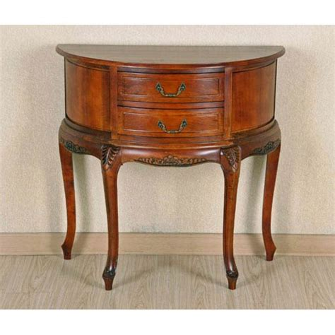 half moon table with drawers international caravan half moon wood wall table with two