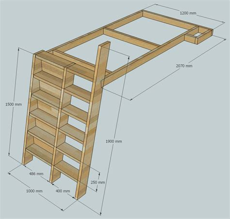 Ladder Bookcase Plans Loft Beds With Bookshelf Ladders
