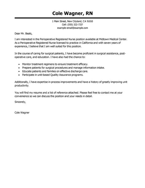 cover letter for rn registered cover letter cover letter templates