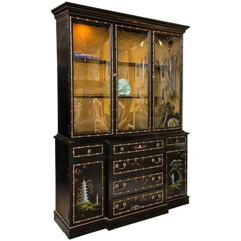 A Chinoiserie China Cabinet / Breakfront at 1stdibs