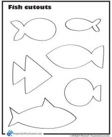 Kid Cut Out Template by Template For Fish Print Out On Different Colored Paper