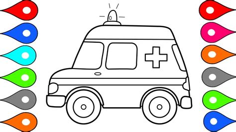 cars coloring book how to draw car ambulance car coloring pages drawing for