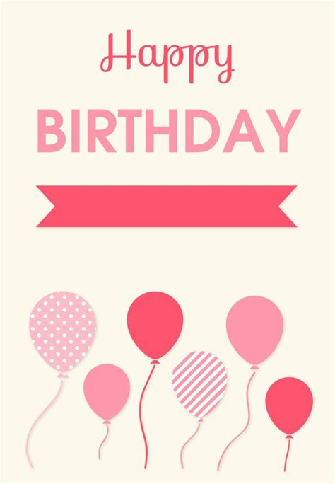 happy birthday card template birthday card free printables 100 s to choose from