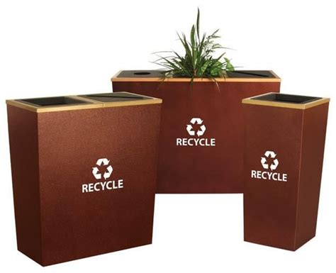 metal recycling trash cans decorative trash cans