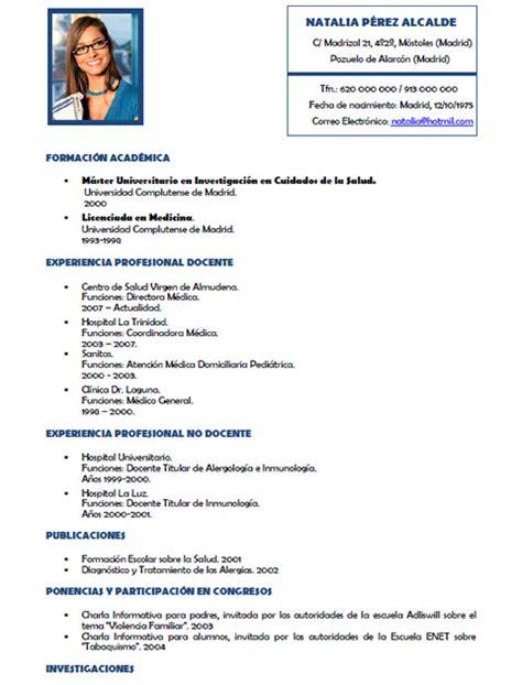 Plantilla De Curriculum Medico Curriculum Vitae Medico Curriculum Vitae