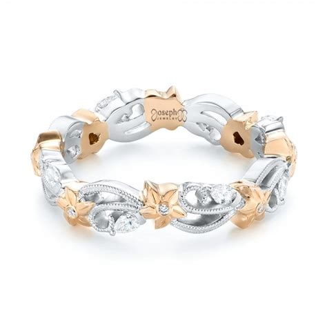 floral filigree and eternity wedding band 102865