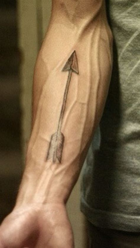 forearm arrow tattoo with big arrow on forearm tattooshunt