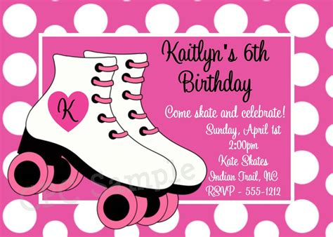 Skating Birthday Card Template by Skating Invitations Invitations Templates