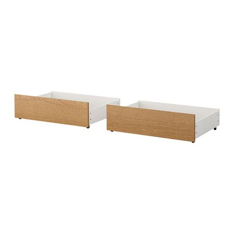 Box Frame For Bed Malm Bed Storage Box For High Bed Frame Oak Veneer 200 Cm Ikea