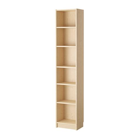 shallow depth shelves billy bookcase birch veneer ikea