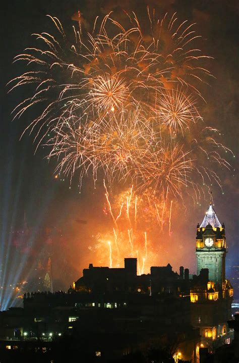 edinburgh tattoo new years eve edinburgh hogmanay revellers celebrate new year s eve uk