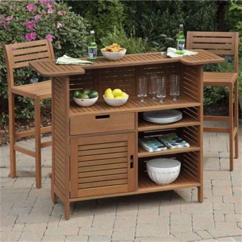 home styles montego bay 3 patio bar set with 2