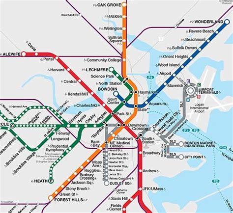 boston map with t stops mbta apartment search information all access boston mbta