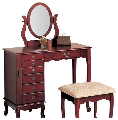 Bedroom Vanity With Jewelry Storage by Coaster 8 Drawer Jewelry And Makeup Vanity Table Set With