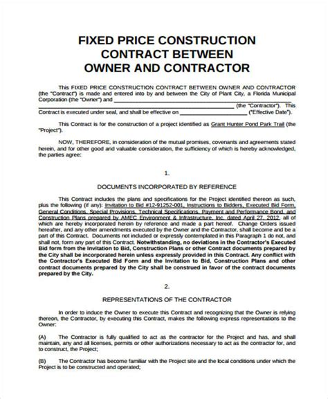 map pricing agreement template contract agreement sle exle services for contract