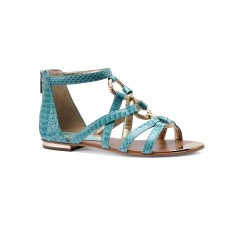 blue gladiator sandals isola adriel gladiator sandals in blue mint lyst