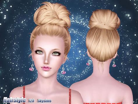 hair bun download skysims hair 128
