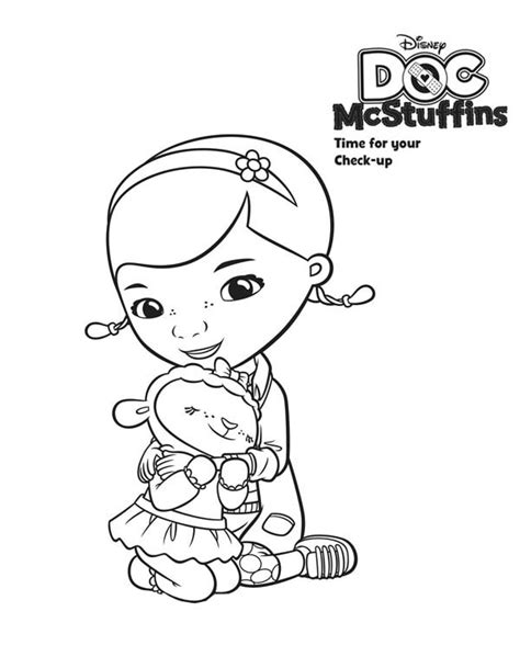 doc mcstuffins lambie coloring pages az coloring pages