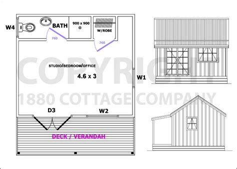 sleep out floor plans office sleep out guest cabin studio 1880 cottage co