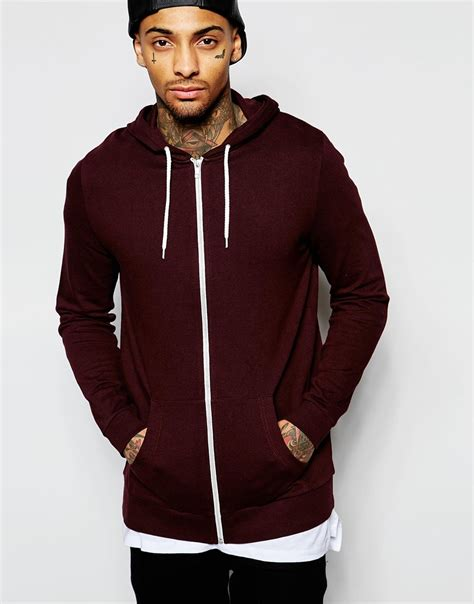 Zhoey Zip Up burgundy zip up hoodie fashion ql