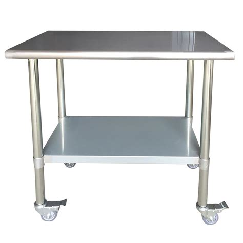 sportsman series kitchen island stainless steel work table sportsman stainless steel kitchen utility table with