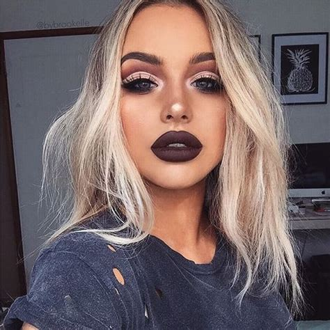type of hair style tan skin 11 maquillajes para combinar con labial oscuro