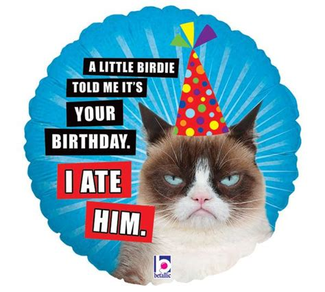grumpy cat party ideas one charming party birthday grumpy cat birthday mylar balloon 18 quot zurchers
