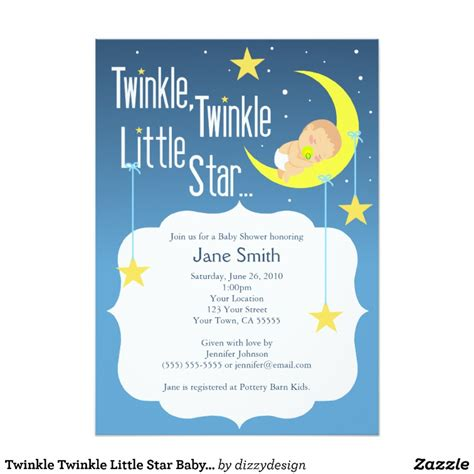 Twinkle Twinkle Baby Shower Invites by Twinkle Twinkle Baby Shower Invite Zazzle