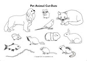 pet animal cut outs black and white sb10306 sparklebox