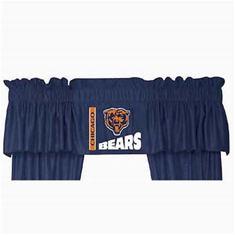 chicago bears curtains chicago bears locker room window valance