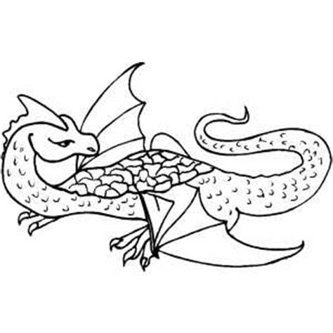 flying dragon easy coloring pages