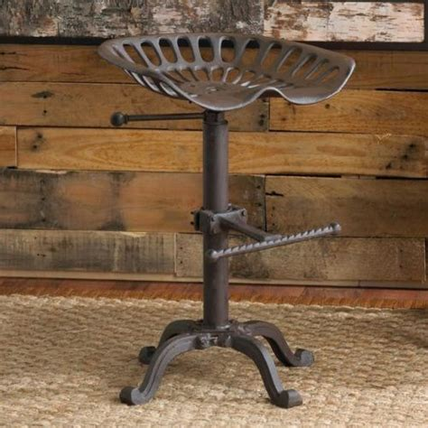 Iron Tractor Seat Bar Stools by Vintage Tractor Seat Bar Stool Rustic Cast Iron Industrial