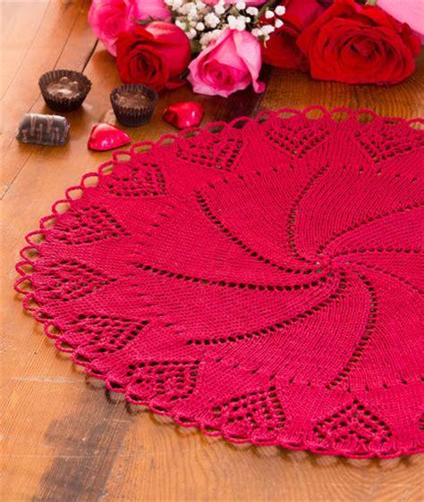 free pattern heart doily valentine heart doily red heart